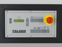 Operating panel with LCD display