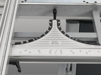 Precision mitre index system