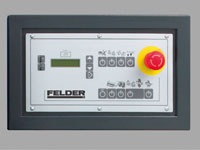 Operating panel with LCD display and keypad