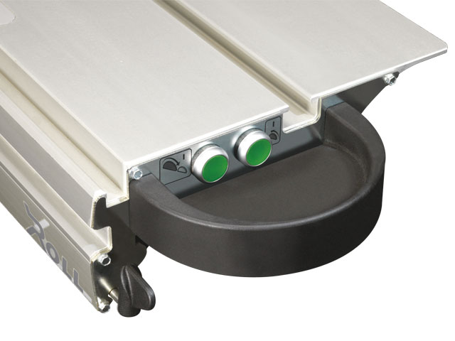 Remote ON-switch on sliding table